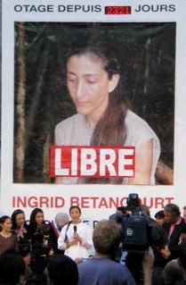 Ingrid Betancourt à Paris (JUILLET 2008)