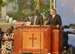 juba,soudan du sud,franklin graham,hope for a new nation,john garang,évangéliques,évangélisation