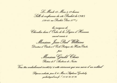 Jean-Paul Willaime, Gérald Chaix, Philippe Portier, CNRS, GSRL, légion d'honneur, sciences sociales des religions