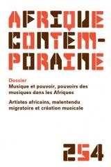 afrique contemporaine,afrique,afco,afd,musique,musique congolaise,musique africaine,malentendu migratoire,musique et pouvoir,armelle gaulier,daouda gary-tounkara