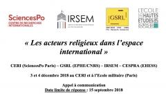 CERI,GSRL,IRSEM,CESPRA, colloque, appel à coms, appel à contributions, géopolitique des religions