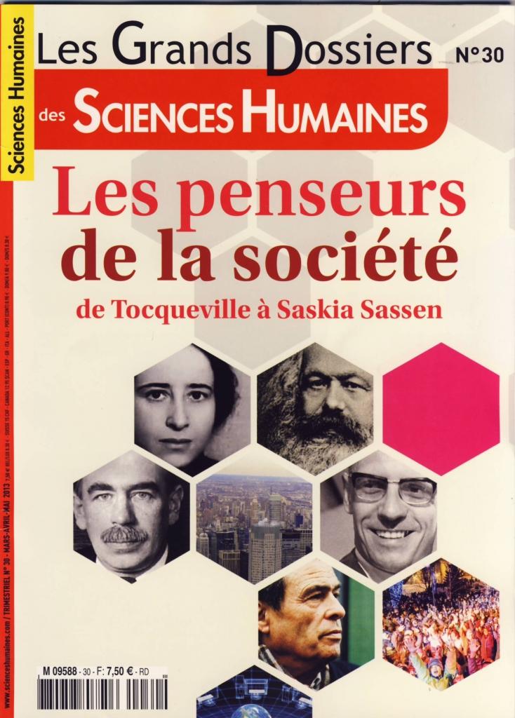 Les penseurs de la soci t grand dossier sciences for Revue sciences humaines