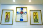 J-2, Triptyque, avec icônes offertes par Bartholoméos, le patriarche orthodoxe de Constantinople.jpg