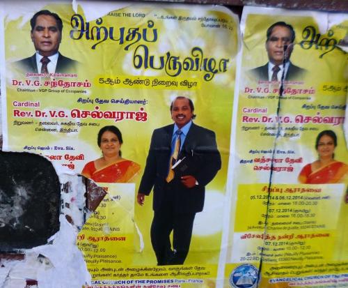 tamouls,sri lanka,inde,évangéliques,évangéliques tamouls,église évangélique des promesses,affichage,affichage religieux